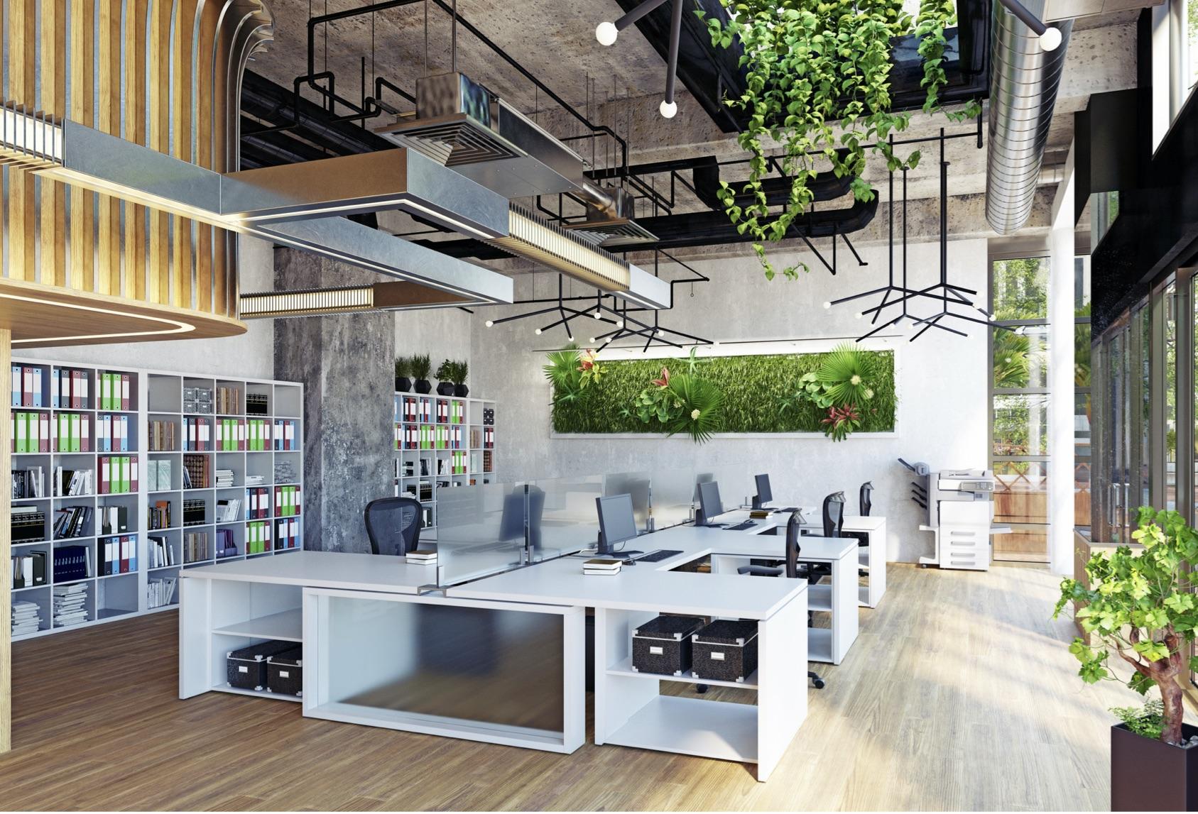 commercial interior design, workspace, office design